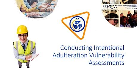 Curso   FSPCA Evaluación de la Vulnerabilidad (IAVA) En Español boletos