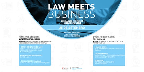 Law Meets Business - 5G: Brave New World bilhetes