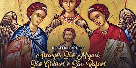 Santa Missa em honra a São Miguel, São Rafael e São Gabriel -29/09 ingressos