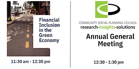 Financial Inclusions in the Green Economy & The CSPC Annual General Meeting tickets