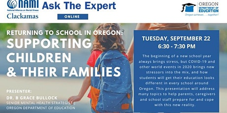Ask the Expert - Returning to School in Oregon tickets