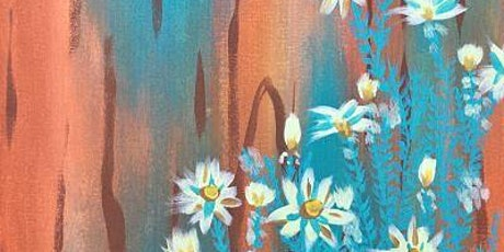 """Paint and Sip Online Webinar """"Canary Daisies"""" tickets"""