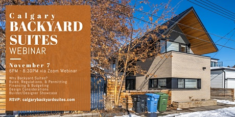 Calgary Backyard Suites Webinar tickets