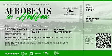 AFROBEATS IN HALIFAX ~ Celebrating the 60th independence of Nigeria tickets