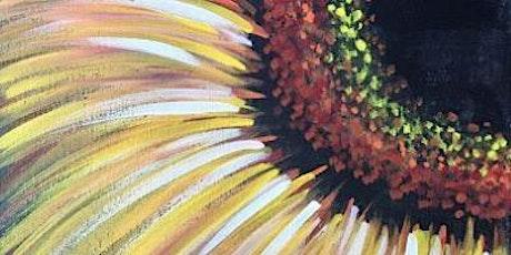 """Paint and Sip Online Webinar """"Sunflower"""" tickets"""
