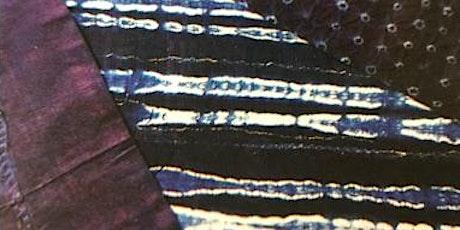 Indigo dye mixture and sashiko stitch workshop tickets