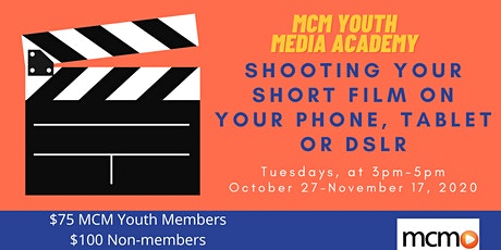 Shooting Your Short Film on Your Phone, Tablet or DSLR tickets