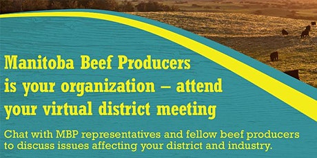 District 13 meeting - Manitoba Beef Producers tickets