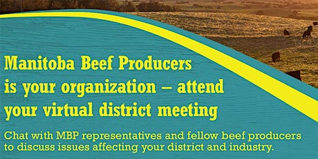 District 1 meeting - Manitoba Beef Producers tickets