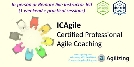 ICAgile Agile Coaching Certification - 1 weekend + practical sessions tickets