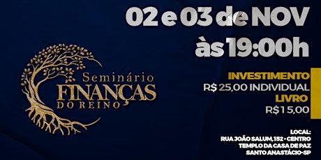 SEMINÁRIO FINANÇAS DO REINO ingressos