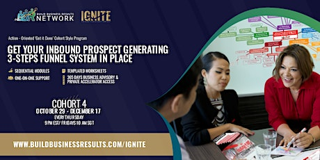 """ONLINE ACCELERATOR: An 8-Step Marketing Process to """"IGNITE"""" Your Business tickets"""
