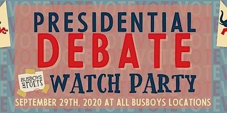 2020 U.S. Presidential Debate Watch Party @ Busboys and Poets 450K tickets