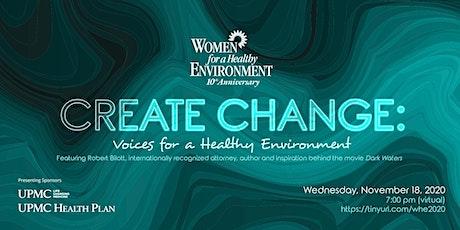WHE Create Change: Featuring  Speaker Robert Bilott tickets