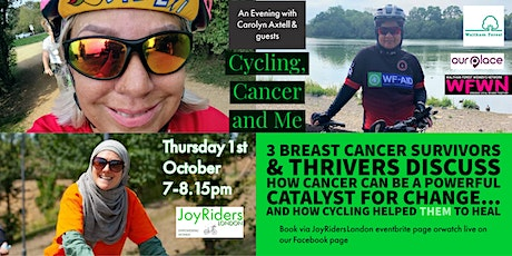 Cycling, Cancer and Me - An Evening with Carolyn Axtell & Guests tickets