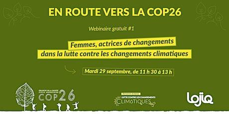 En route vers la COP26   webinaire 1 billets