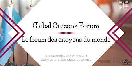 The 2nd Global Citizen Forum // Le 2e forum des citoyens du monde tickets