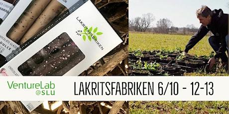 Lakritsfabriken - Nu med norra Europas största lakritsodling tickets