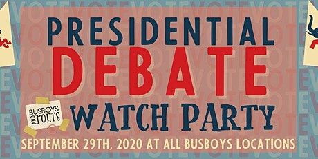 2020 U.S. Presidential Debate Watch Party @ Busboys and Poets Shirlington tickets