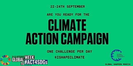 CLIMATE ACTION CAMPAIGN - small steps with huge impact tickets