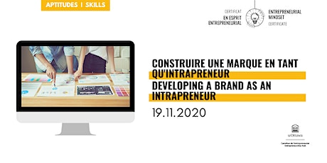 Développer une marque intrapreneuriale|Developing an Intrapreneurial Brand tickets