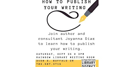 Come learn how to publish your writing tickets
