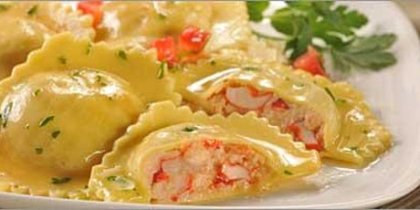 Pasta Making 101 Shrimp and Lobster Ravioli with Creamy Garlic and Basil
