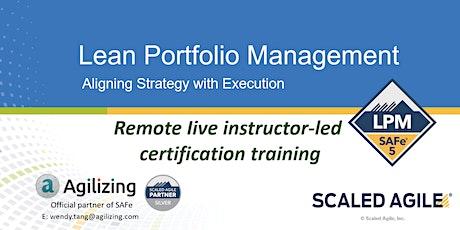 SAFe Lean Portfolio Management Certification - 2 days tickets