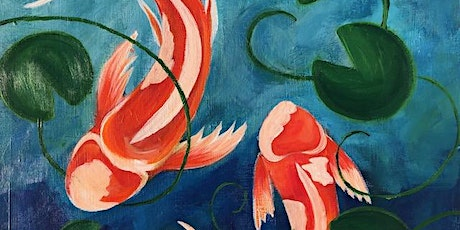 Paint and Sip Beautiful 'Koi Pond' tickets