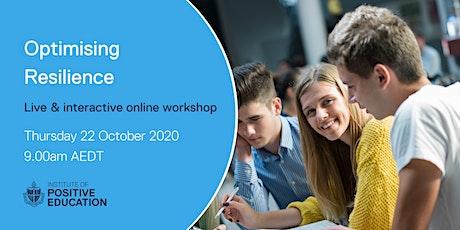 Optimising Resilience Online Workshop (October 2020) tickets