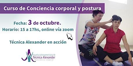 Curso online de Conciencia Corporal y postura con Técnica Alexander entradas