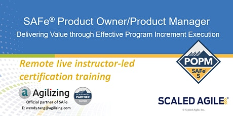 SAFe Product Owner Product Manager Certification - 2 days