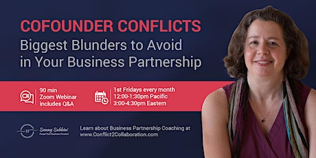 Cofounder Conflicts: Biggest Blunders to Avoid  in Your BusinessPartnership tickets
