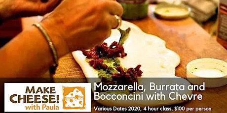 Mozzarella, Burrata and Bocconcini with Chevre tickets