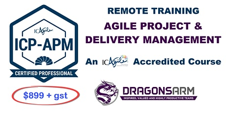 ICAgile Project and Delivery Management Remote Training ICP-APM tickets