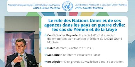 Le rôle des Nations Unies et de ses agences dans les pays en guerre civile billets