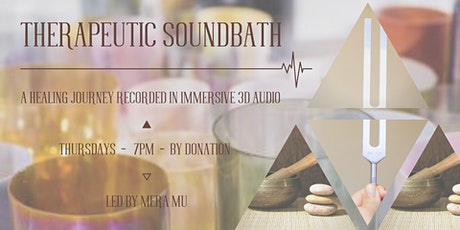 THERAPEUTIC SOUNDBATH in 3D AUDIO tickets