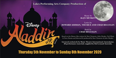 "Lakes Performing Arts Company's Production of ""Disney's Aladdin Junior"" tickets"