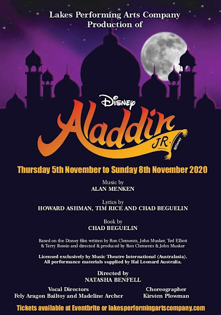 "Lakes Performing Arts Company's Production of ""Disney's Aladdin Junior"" image"