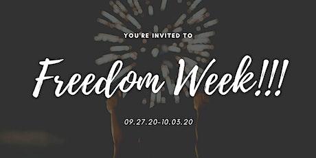 Freedom Week 2020 tickets