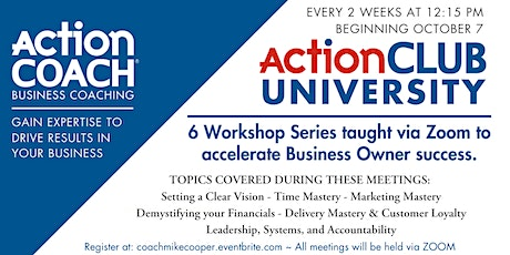 ActionCLUB  for Business Owners Complete Program tickets