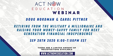Retiring From The Military A Millionaire with Doug Nordman & Carol Pittner tickets