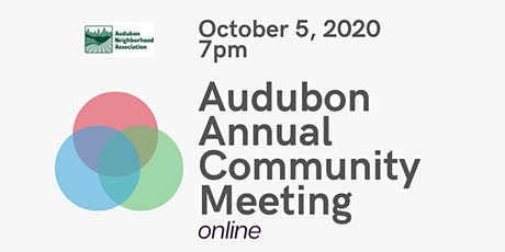 Audubon Annual Community Meeting and Board of Director Elections tickets