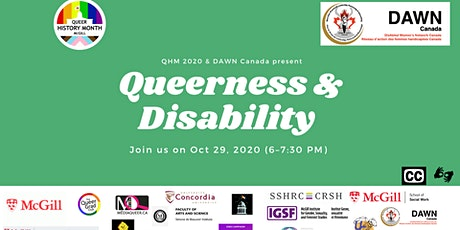 QHM 2020 Queerness and disability Panel (With DAWN Canada) tickets