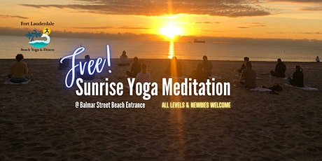 Free Sunrise Oceanfront Yoga Meditation at Balmar Beach Entrance tickets