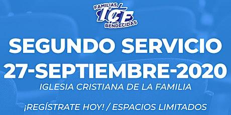 Servicio ICF - 27 de Septiembre de 2020  - Segundo Servicio - 11AM tickets
