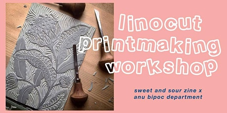 Linocut Print Making Workshop: BIPOC Dept X Sweet and Sour tickets
