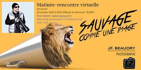 Matinée-rencontre avec Jean-François Beaudry - dimanche 18 octobre 20 à 9 h billets