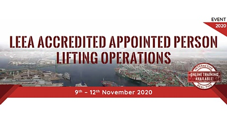 LEEA Accredited Appointed Person Lifting Operations tickets
