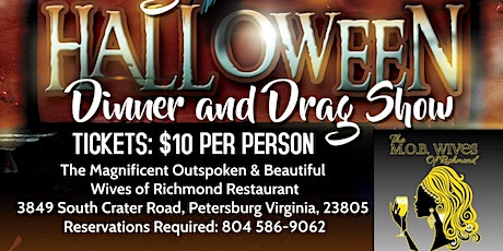 Sunday, October 18th 6:30pm DRAG Dinner Show tickets